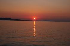 Coucher de soleil depuis les orgues maritimes