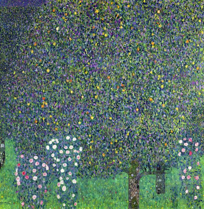 Klimt _ Rosiers sous les arbres