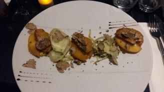 Tarte tatin au foie gras maison et truffes